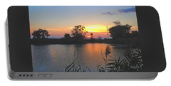 Sunset West Of Myer's Bagels Portable Battery Charger by Felipe Adan Lerma