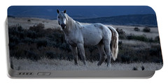 Sunset With Wild Stallion Tripod In Sand Wash Basin Portable Battery Charger