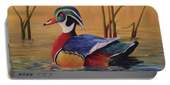 Sunset Wood Duck Portable Battery Charger