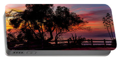 Sunset Silhouettes From Palisades Park Portable Battery Charger