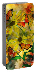 Sunshine Daisies Portable Battery Charger by Maria Urso