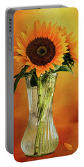 Sunshine In A Vase Portable Battery Charger by Diane Schuster