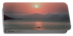 Portable Battery Charger featuring the photograph Sunup San Francisco Bay by Frank DiMarco