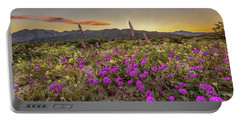 Super Bloom Sunset Portable Battery Charger by Peter Tellone