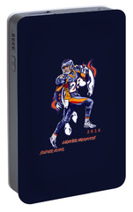 Portable Battery Charger featuring the drawing Super Bowl 2016  by Andrzej Szczerski