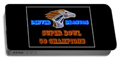 Portable Battery Charger featuring the photograph Super Bowl 50 Champions by Shane Bechler