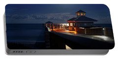 Super Moon At Juno Pier Portable Battery Charger
