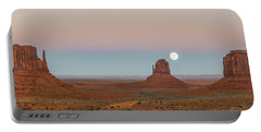 Super Moon In Monument Valley Portable Battery Charger