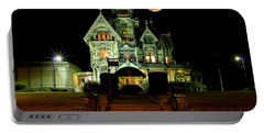 Super Moon Over Carson Mansion Portable Battery Charger
