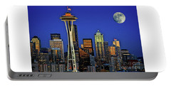 Super Moon Over Seattle Portable Battery Charger