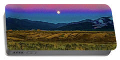 Super Moon Over Taos Portable Battery Charger