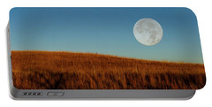 Super Moon Over The Prairie Portable Battery Charger
