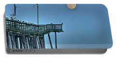 Super Moon Over Virginia Beach Portable Battery Charger