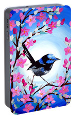 Superb Fairy Wren Portable Battery Charger by Cathy Jacobs