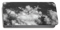 Portable Battery Charger featuring the photograph Supermarine Spitfire Prototype K5054 Black And White Version by Gary Eason