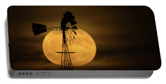 Supermoon Rise 4  11-14-2016 Portable Battery Charger by Ernie Echols