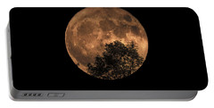 Supermoon Rising Portable Battery Charger by Alana Ranney