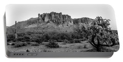 Superstition Mountain B/w Portable Battery Charger