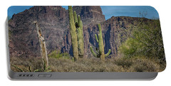 Superstition Mountain With Cactus Portable Battery Charger