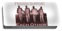 Support Friends In Bronze Portable Battery Charger
