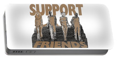 Portable Battery Charger featuring the digital art Support Friends by Lance Sheridan-Peel