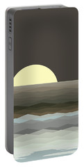 Surf At Moonrise Portable Battery Charger