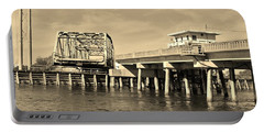 Surf City Bridge - Sepia Portable Battery Charger
