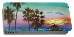 Surf City Sunset Portable Battery Charger