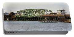 Surf City Swing Bridge Portable Battery Charger by Cynthia Guinn