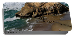 Surf Fishing At Ocean Beach Portable Battery Charger