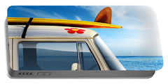 Surf Van Portable Battery Charger by Carlos Caetano