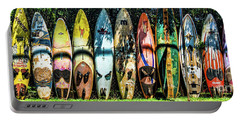 Surfboard Fence Maui Hawaii Portable Battery Charger by Peter Dang