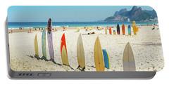 Surfboards On Ipanema Beach, Rio De Janeiro Portable Battery Charger