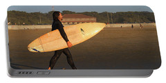 Surfer At Ocean Beach Portable Battery Charger