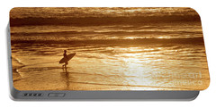 Surfer Portable Battery Charger by Delphimages Photo Creations
