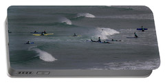 Portable Battery Charger featuring the photograph Photographs Of Cornwall Surfers At Fistral by Brian Roscorla