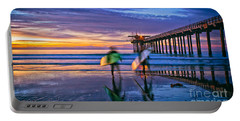 Surfers At Scripps Pier In La Jolla California Portable Battery Charger