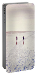 Portable Battery Charger featuring the photograph Surfers In The Snow by Lyn Randle
