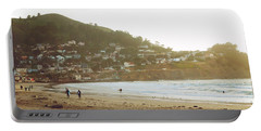 Surfers Just Before Sunset Portable Battery Charger
