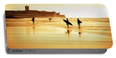 Surfers Silhouettes Portable Battery Charger