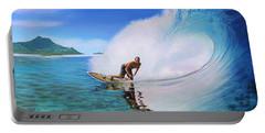 Surfing Dan Portable Battery Charger by Jane Girardot