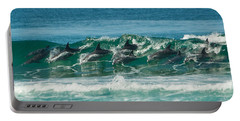 Surfing Dolphins 4 Portable Battery Charger
