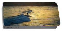 Surfing In Rio Portable Battery Charger by Lana Enderle