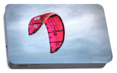 Portable Battery Charger featuring the photograph Surfing Kite by Adrian LaRoque