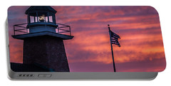 Portable Battery Charger featuring the photograph Surfing Museum Full Color  by Lora Lee Chapman