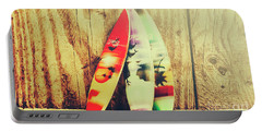 Surfing Still Life Artwork Portable Battery Charger