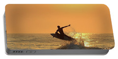 Portable Battery Charger featuring the photograph Surfing To The Sky by Robert Banach