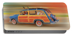 Portable Battery Charger featuring the photograph Surf's Up by Susan Rissi Tregoning