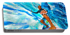 Surf's Up With Kelly Slater Portable Battery Charger by ABeautifulSky Photography