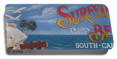 Surfside Beach Sign Portable Battery Charger